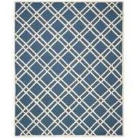 Safavieh Cambridge 9-Foot x 12-Foot Trina Wool Rug in Navy Blue/Ivory