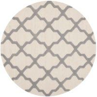 Safavieh Cambridge 6-Foot x 6-Foot Quatrefoil Wool Rug in Ivory/Silver