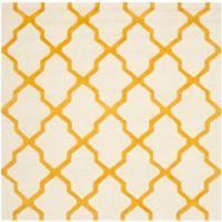 Safavieh Cambridge 6-Foot x 6-Foot Quatrefoil Wool Rug in Ivory/Gold