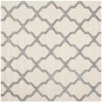 Safavieh Cambridge 6-Foot x 6-Foot Quatrefoil Wool Rug in Ivory/Silver
