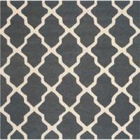 Safavieh Cambridge 6-Foot x 6-Foot Quatrefoil Wool Rug in Dark Grey/Ivory