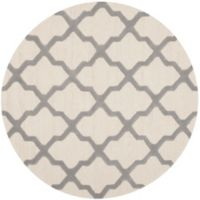 Safavieh Cambridge 8-Foot x 8-Foot Quatrefoil Wool Rug in Ivory/Silver