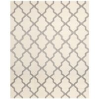 Safavieh Cambridge 8-Foot x 10-Foot Quatrefoil Wool Rug in Ivory/Silver