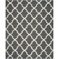 Safavieh Cambridge 8-Foot x 10-Foot Quatrefoil Wool Rug in Dark Grey/Ivory