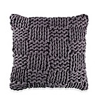 Kenneth Cole Mineral Yarn-Dyed Cozy Knit Square Throw Pillow in Grey