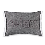 Kenneth Cole Mineral Yarn-Dyed Relax Oblong Throw Pillow in Grey
