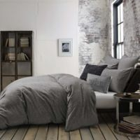 Kenneth Cole Mineral Yarn-Dyed Twin Comforter Set in Charcoal