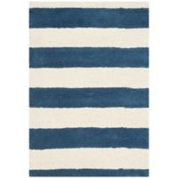 Safavieh Cambridge 2-Foot x 3-Foot Brie Wool Rug in Navy /Ivory