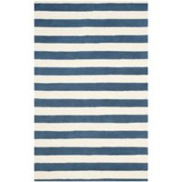 Safavieh Cambridge 4-Foot x 6-Foot Brie Wool Rug in Navy /Ivory