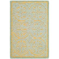 Safavieh Cambridge 2-Foot x 3-Foot Lindsey Wool Rug in Blue/Gold