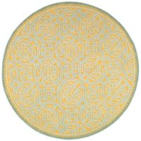 Safavieh Cambridge 6-Foot x 6-Foot Lindsey Wool Rug in Blue/Gold