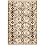 Safavieh Cambridge 8-Foot x 10-Foot Lindsey Wool Rug in Tan/Multi