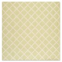 Safavieh Cambridge 8-Foot x 8-Foot Eva Wool Rug in Light Green/Ivory