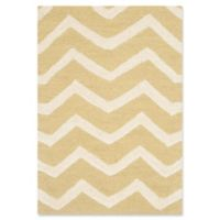Safavieh Cambridge 2-Foot x 3-Foot Zoe Wool Rug in Light Gold/Ivory