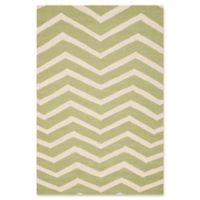 Safavieh Cambridge 6-Foot x 9-Foot Zoe Wool Rug in Green/Ivory