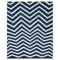 Safavieh Cambridge 8-Foot x 10-Foot Zoe Wool Rug in Navy /Ivory