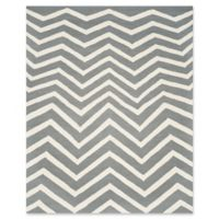 Safavieh Cambridge 8-Foot x 10-Foot Zoe Wool Rug in Dark Grey/Ivory