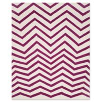 Safavieh Cambridge 8-Foot x 10-Foot Zoe Wool Rug in Ivory/Fuchsia