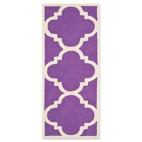 Safavieh Cambridge 2-Foot 6-Inch x 6-Foot Lynn Wool Rug in Purple/Ivory