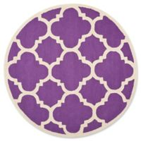 Safavieh Cambridge 6-Foot x 6-Foot Lynn Wool Rug in Purple/Ivory