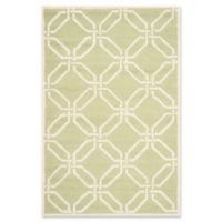 Safavieh Cambridge 4-Foot x 6-Foot Tina Wool Rug in Lime/Ivory