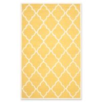Safavieh Cambridge 8-Foot x 10-Foot Erica Wool Rug in Gold/Ivory