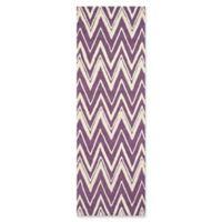 Safavieh Cambridge 2-Foot 6-Inch x 8-Foot Olivia Wool Rug in Purple/Ivory