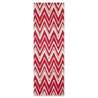 Safavieh Cambridge 2-Foot 6-Inch x 8-Foot Olivia Wool Rug in Red/Ivory
