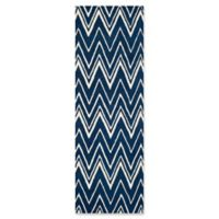 Safavieh Cambridge 2-Foot 6-Inch x 10-Foot Olivia Wool Rug in Navy /Ivory