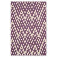 Safavieh Cambridge 3-Foot x 5-Foot Olivia Wool Rug in Purple/Ivory