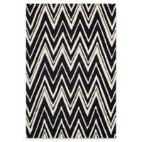 Safavieh Cambridge 4-Foot x 6-Foot Olivia Wool Rug in Black/Ivory
