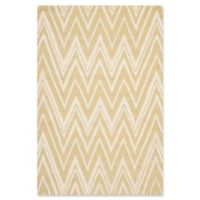 Safavieh Cambridge 4-Foot x 6-Foot Olivia Wool Rug in Light Gold/Ivory