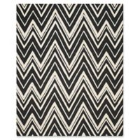 Safavieh Cambridge 8-Foot x 10-Foot Olivia Wool Rug in Black/Ivory
