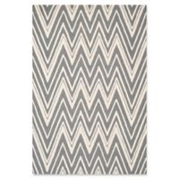 Safavieh Cambridge 8-Foot x 10-Foot Olivia Wool Rug in Dark Grey/Ivory