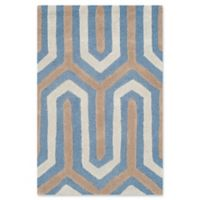 Safavieh Cambridge 2-Foot x 3-Foot Sophie Wool Rug in Navy /Grey