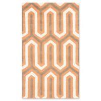 Safavieh Cambridge 3-Foot x 5-Foot Sophie Wool Rug in Orange/Grey