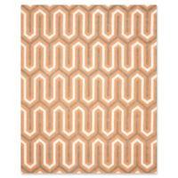 Safavieh Cambridge 8-Foot x 10-Foot Sophie Wool Rug in Orange/Grey