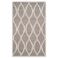 Safavieh Cambridge 5-Foot x 8-Foot Lexie Wool Rug in Dark Grey/Ivory