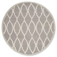 Safavieh Cambridge 6-Foot x 6-Foot Lexie Wool Rug in Dark Grey/Ivory