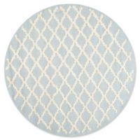 Safavieh Cambridge 6-Foot x 6-Foot Jada Wool Rug in Light Blue/Ivory