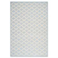 Safavieh Cambridge 6-Foot x 9-Foot Jada Wool Rug in Light Blue/Ivory