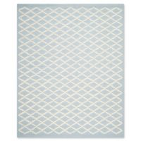 Safavieh Cambridge 8-Foot x 10-Foot Jada Wool Rug in Light Blue/Ivory