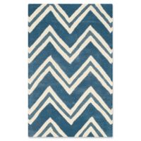 Safavieh Cambridge 2-Foot 6-Inch x 4-Foot Lauren Wool Rug in Navy /Ivory