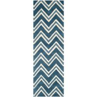 Safavieh Cambridge 2-Foot 6-Inch x 8-Foot Lauren Wool Rug in Navy /Ivory