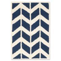 Safavieh Cambridge 2-Foot x 3-Foot Aria Wool Rug in Navy /Ivory