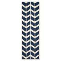 Safavieh Cambridge 2-Foot 6-Inch x 8-Foot Aria Wool Rug in Navy /Ivory