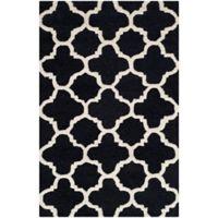 Safavieh Cambridge 2-Foot x 3-Foot Ally Wool Rug in Black/Ivory