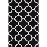 Safavieh Cambridge 2-Foot 6-Inch x 4-Foot Ally Wool Rug in Black/Ivory