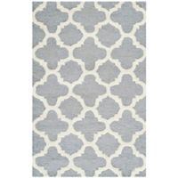 Safavieh Cambridge 2-Foot 6-Inch x 4-Foot Ally Wool Rug in Silver/Ivory