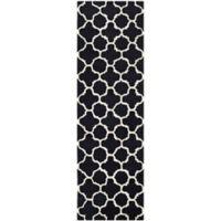 Safavieh Cambridge 2-Foot 6-Inch x 6-Foot Ally Wool Rug in Black/Ivory